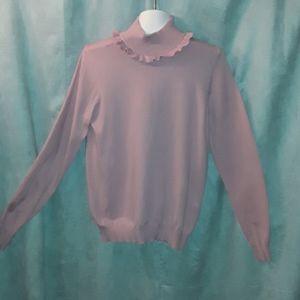 Catherine MaLandrino pink turtleneck sweater
